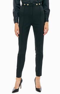 Классические черные брюки с высоким содержанием шерсти Pinko