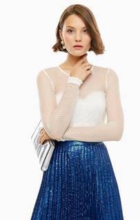 Блуза молочного цвета с длинными рукавами Guess