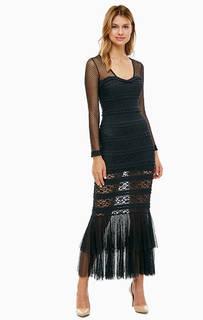 Длинное платье черного цвета Guess