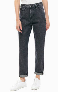 Серые джинсы Mom Straight Lee