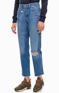 Рваные джинсы синего цвета Noisy May