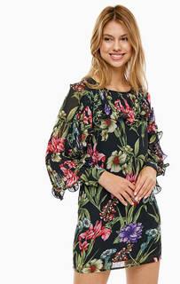 Короткое платье с цветочным принтом Guess
