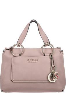 Розовая сумка с карманом на передней стенке Guess