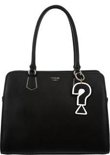 Черная сумка с тремя отделами Guess