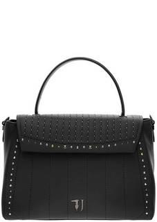 Черная сумка с откидным клапаном Trussardi Jeans
