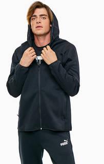 Толстовка черного цвета с карманами на молниях Puma