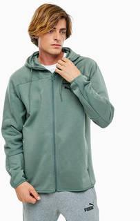 Толстовка цвета хаки с карманами на молниях Puma