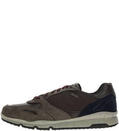 Кроссовки коричневого цвета с вкладной стелькой Geox