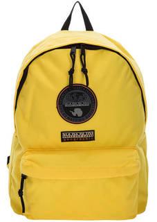Желтый текстильный рюкзак с нашивками Napapijri