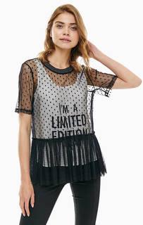 Полупрозрачная блуза с дополнительной майкой Patrizia Pepe