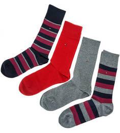 Комплект из четырех пар хлопковых носков в подарочной коробке Tommy Hilfiger