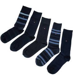 Комплект из пяти пар хлопковых носков в подарочной коробке Tommy Hilfiger