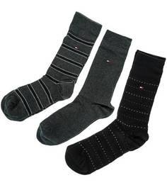 Комплект из трех пар хлопковых носков в подарочной коробке Tommy Hilfiger
