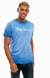 Футболка из хлопка с логотипом бренда Pepe Jeans