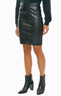 Черная юбка с разрезом Noisy May