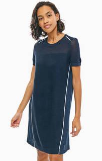 Синее платье с короткими рукавами Tommy Hilfiger