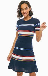 Приталенное платье с короткими рукавами Tommy Hilfiger