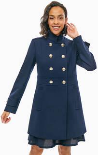 Синее трикотажное пальто на пуговицах Tommy Hilfiger