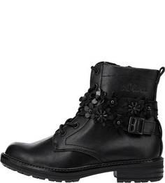 Черные ботинки с декоративной отделкой S.Oliver