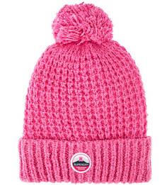 Вязаная шапка цвета фуксии с помпоном Superdry