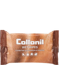 Влажные салфетки для замши, нубука и велюра Collonil