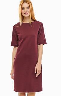 Бордовое платье из тонкого трикотажа B.Young