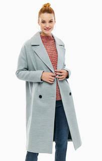 Двубортное пальто серого цвета Vero Moda