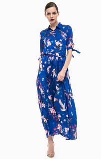 Длинное платье-рубашка с цветочным принтом Gaudi