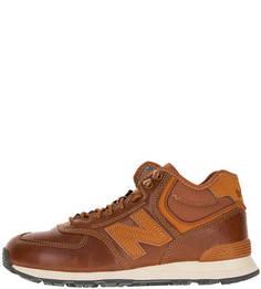 Утепленные кожаные кроссовки 574 New Balance