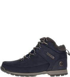 Синие ботинки из нубука Timberland