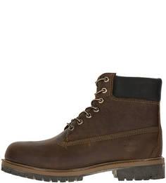 Высокие демисезонные ботинки из натуральной кожи Timberland