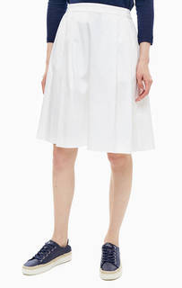 Расклешенная белая юбка из хлопка United Colors of Benetton