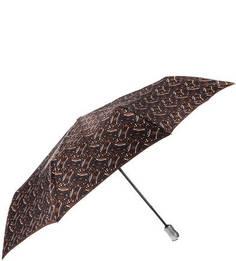 Зонт с коричневым куполом из сатина Doppler