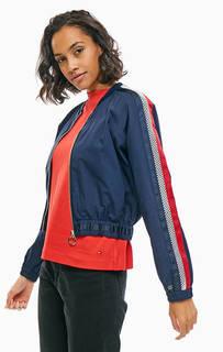 Хлопковая куртка-бомбер с контрастными вставками Tommy Hilfiger