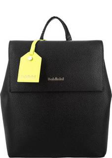 Черный кожаный рюкзак с тонкими лямками Baldinini