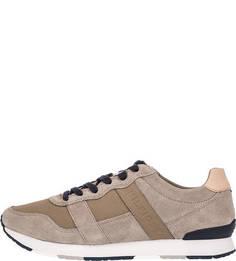 Кроссовки бежевого цвета на шнуровке Tommy Hilfiger