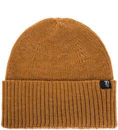 Коричневая шапка с добавлением шерсти Tom Tailor Denim