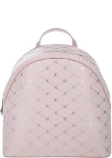 Розовый кожаный рюкзак Blumarine