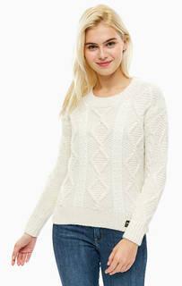 Молочно-белый свитер с косами Superdry
