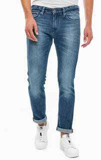 Зауженные синие джинсы с декоративными заломами Scanton Tommy Jeans