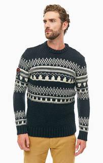 Синий свитер крупной вязки Superdry
