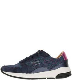 Летние кроссовки на шнуровке Pepe Jeans