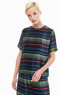 Плиссированная блуза в полоску Tommy Hilfiger