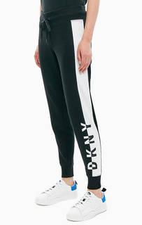 Черные брюки джоггеры в спортивном стиле Dkny
