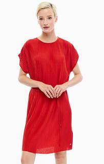 Красное платье с поясом Tommy Hilfiger