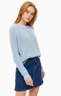 Синий хлопковый джемпер крупной вязки Calvin Klein
