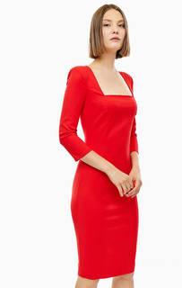 Приталенное красное платье с вырезами на спине Patrizia Pepe
