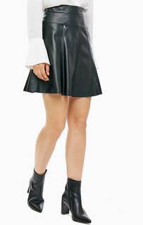 Расклешенная юбка черного цвета Patrizia Pepe