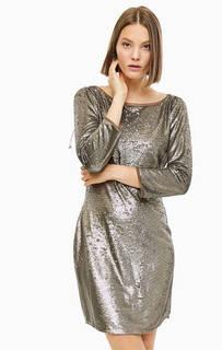 Вечернее платье с драпировкой на спине Patrizia Pepe