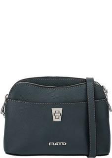 Бирюзовая кожаная сумка с двумя отделами Fiato